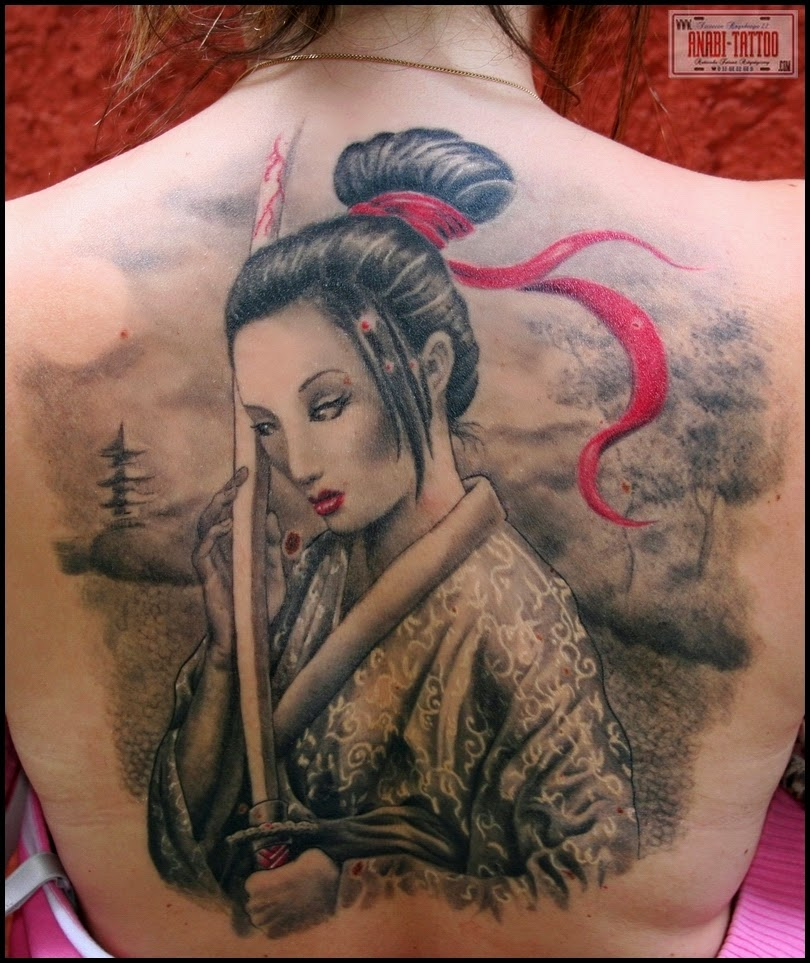 Geisha Face Tattoo Designs