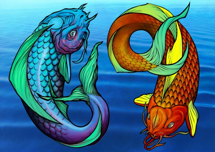 zodiac sign of pisces tattoo
