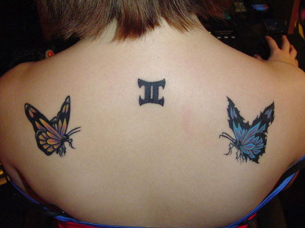 butterfly gemini tattoo