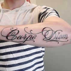 arms carpe diem tattoo design