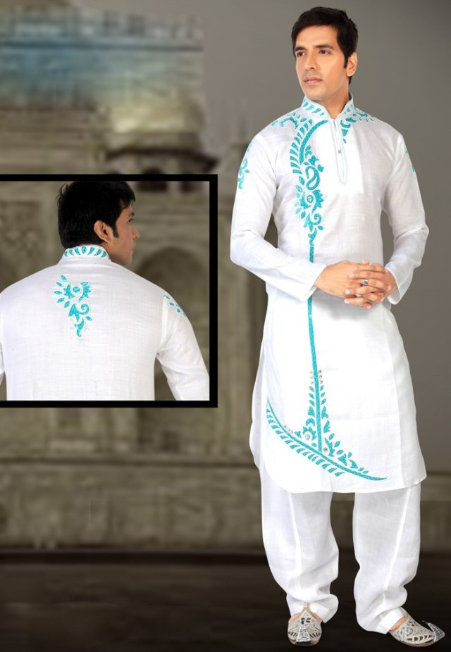 side border kurta pyjama for men