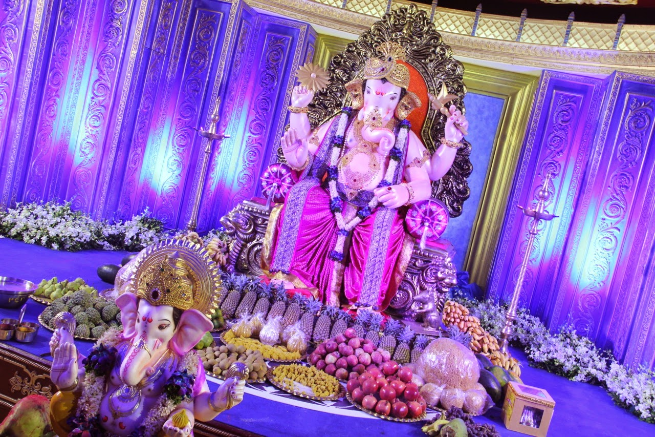Top 50 lord ganesha wallpaper images latest pictures for Background decoration for ganesh festival