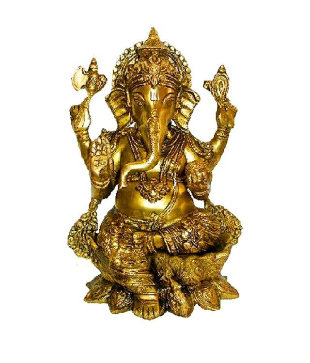 gold brass ganesh ji