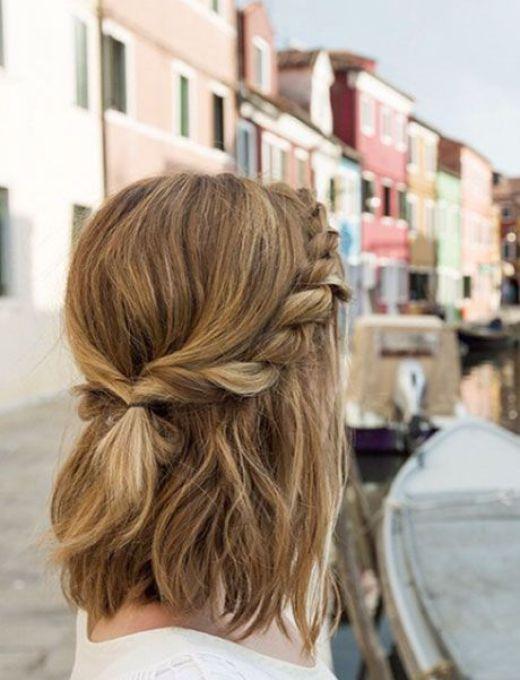 twisted knot back hairstyle fr medium length hair