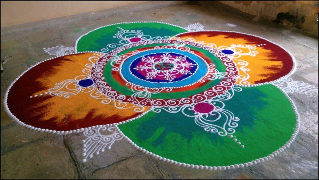 colorfull rangoli designs