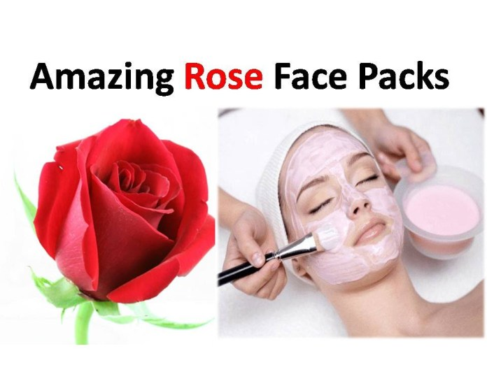 rose petal and milk face pack