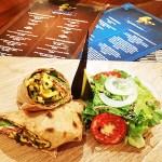 Ackee wrap Kushites Vegetarian Restaurant Kingston Jamaica