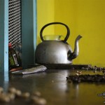 Blue Mountain coffee beans kettle