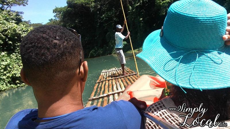 couple romantic Martha Brae river rafting Jamaica