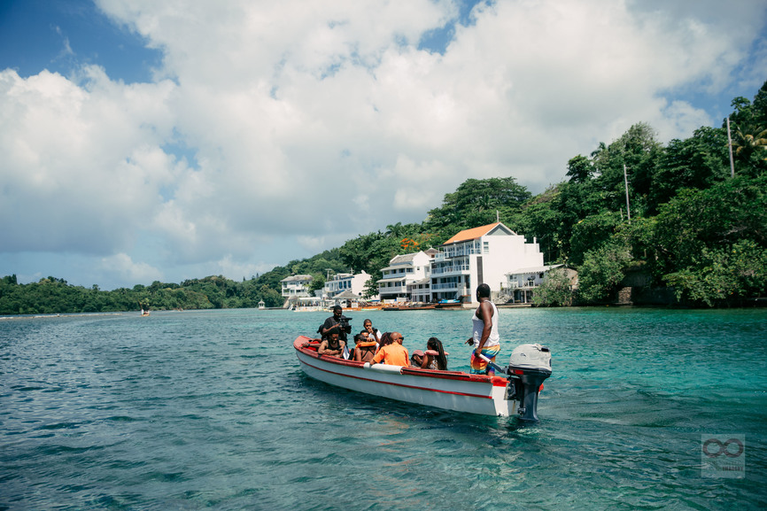 boat ride Blue Lagoon Jamaica