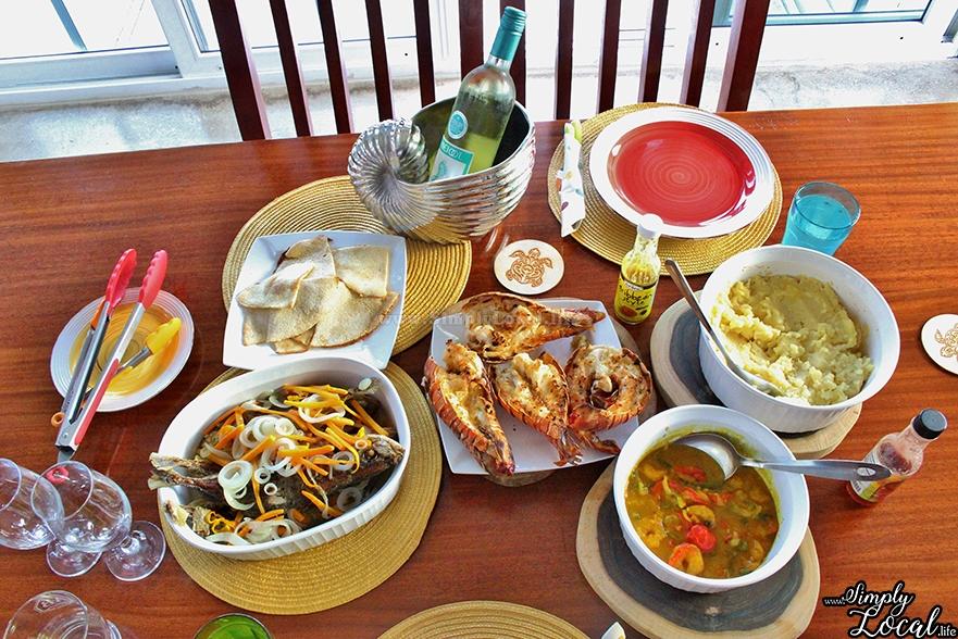Turtles Nest Treasure Beach Jamaica Villa seafood meal
