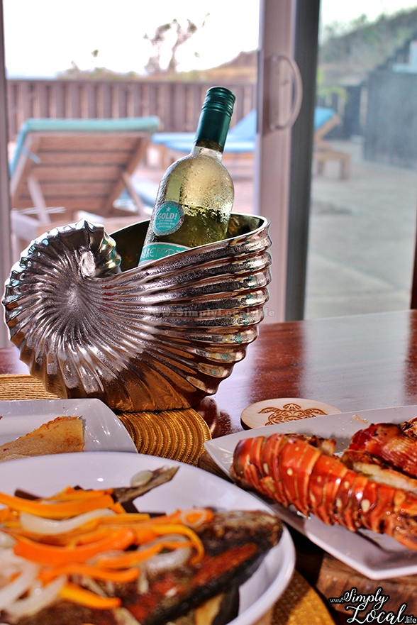 Turtles Nest Treasure Beach Jamaica Villa seashell wine cooler