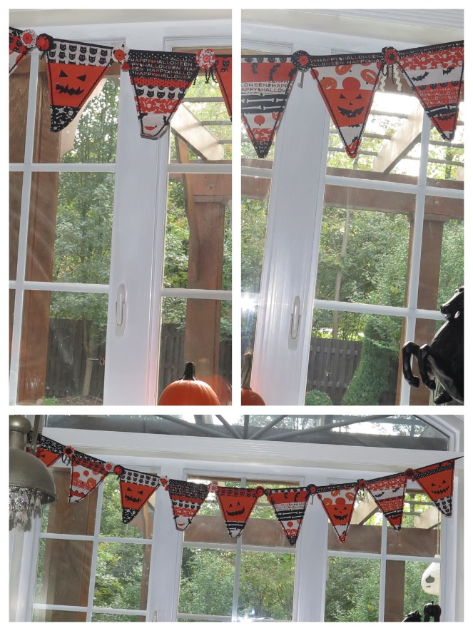 Make this simple Halloween banner for perfect addition to your decor!