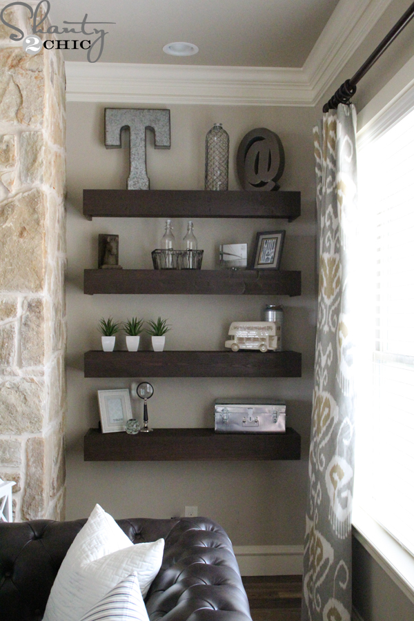 How to get the Vintage Farmhouse Look? Think Fixer Upper! on Shelf Sconces For Living Rooms Contemporary id=77462