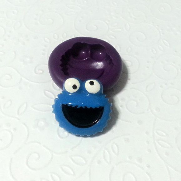 cookie monster silicone mold