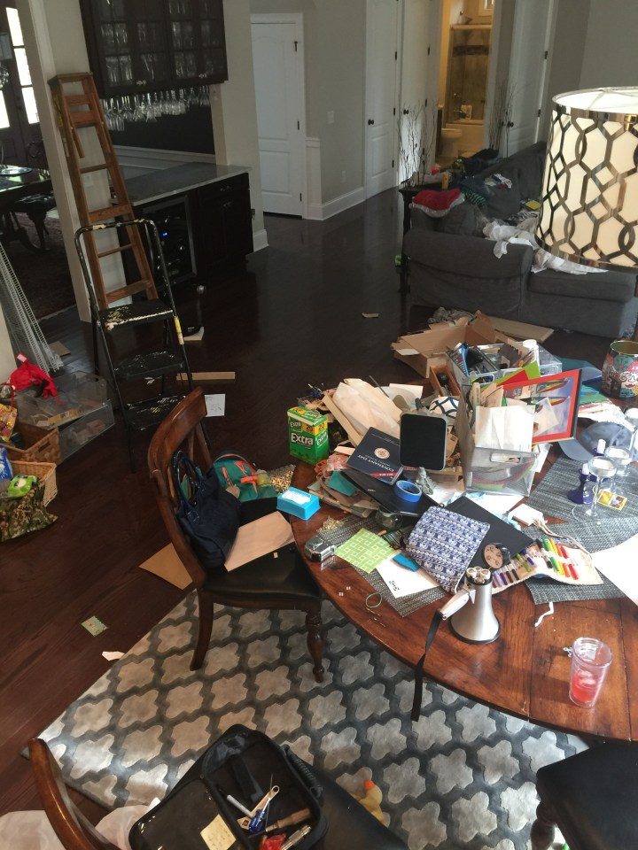 Pantry Dumping Zone before Relocation