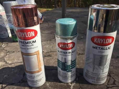 Love the Krylon Metallic Spray Paint, especially glitter blast!