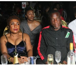 Burna Boy's Mum Steps Out In Cleavage Baring Outfit To An Event With Hubby