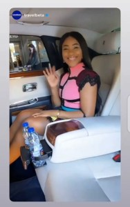 Erica Star Gal Enjoying Herself In Dubai, Cruising Helicopter Ride