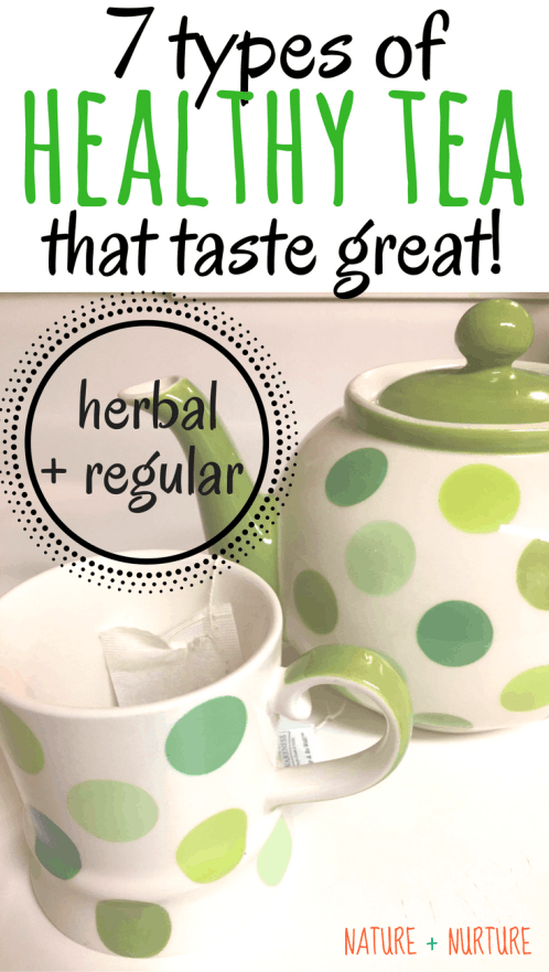 Healthy tea is one of the easiest and most enjoyable ways to improve your health. Discover 7 different types of herbal tea and regular tea you need in your pantry.