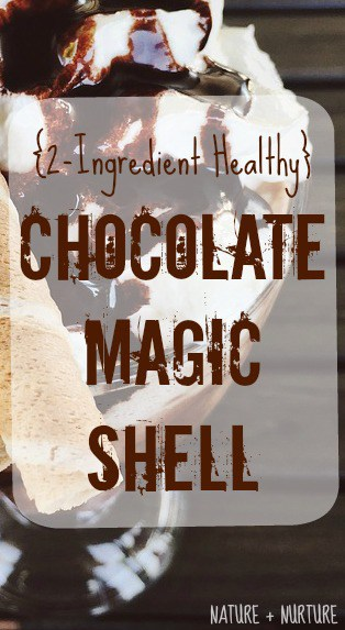 Homemade Chocolate Syrup Magic Shell, 2-Ingredients & Healthy (You Won't Believe How Easy This Is)!
