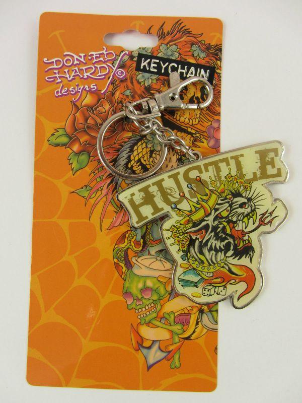 Ed Hardy Tattoo Design Keychain Keyring