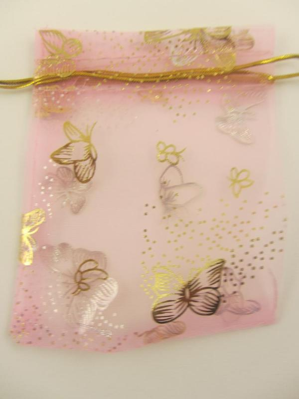 Organza Wedding Favour Party Gift Bags Jewellery Pouch (Set of 5 10x12cm)