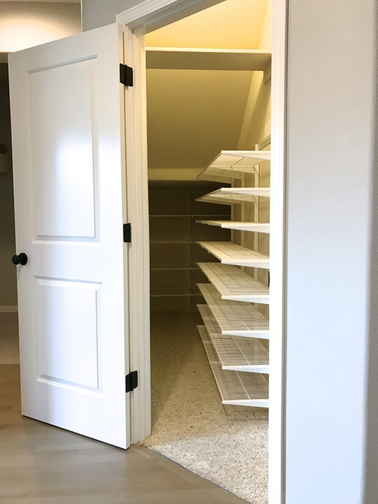 Simply Done The Ultimate Under Stairs Closet Simply Organized | Wardrobe Design Under Stairs | Hallway Storage | Basement Stairs | Stair Case | Living Room | Shoe