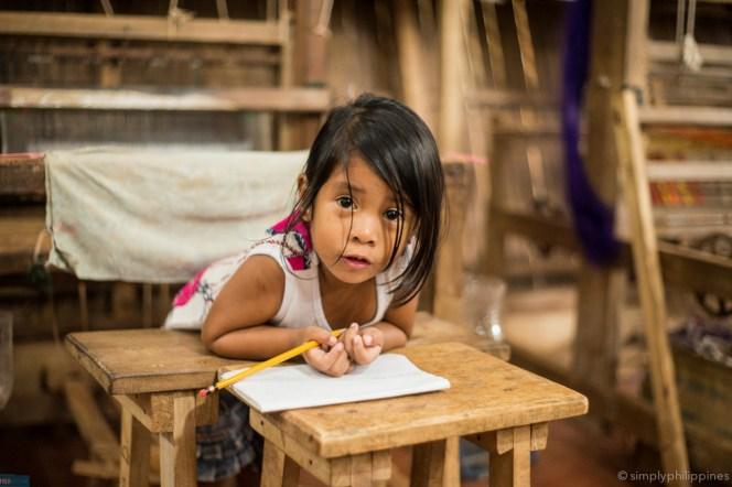 Schoolgirl in a weaving community