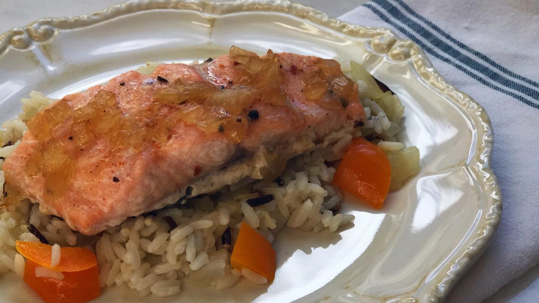 Sesame Maple Glazed Salmon