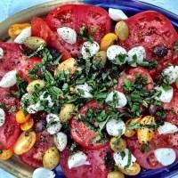 Spanish Olive Caprese Salad