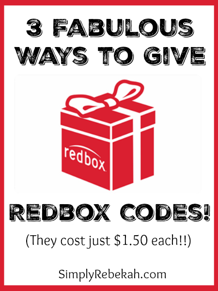 3 Fabulous Ways To Give Redbox Codes Simply Rebekah