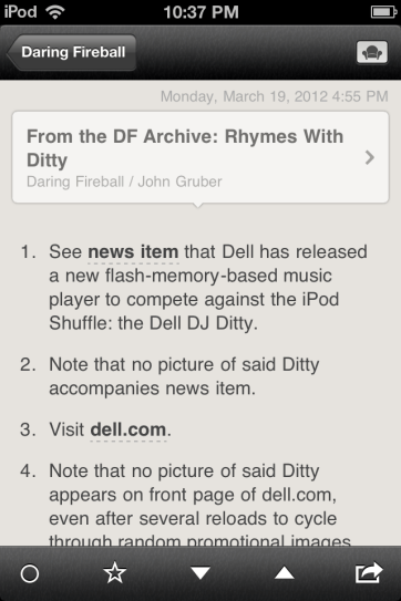 You have the option to view articles in Readability.