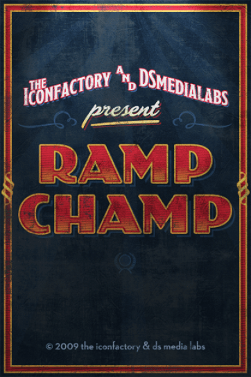 Ramp Champ is yet another jewel from the Iconfactory.