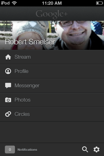Viewing profiles in Google+ is very clean.