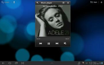 The mini music player.