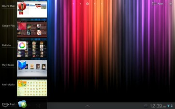 The app switcher in action.