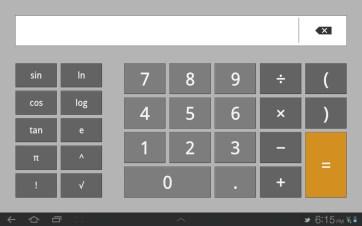 The fullscreen calculator app.