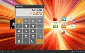Here's the calculator running in a window.