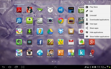 You have numerous options to organize apps in the launcher.