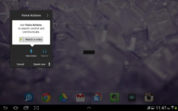 Go Launcher also features voice commands.