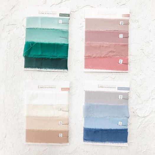 Flay Lay Styling Prop - Chiffon Silk Ribbon. Simply Rosie Designs, LLC.