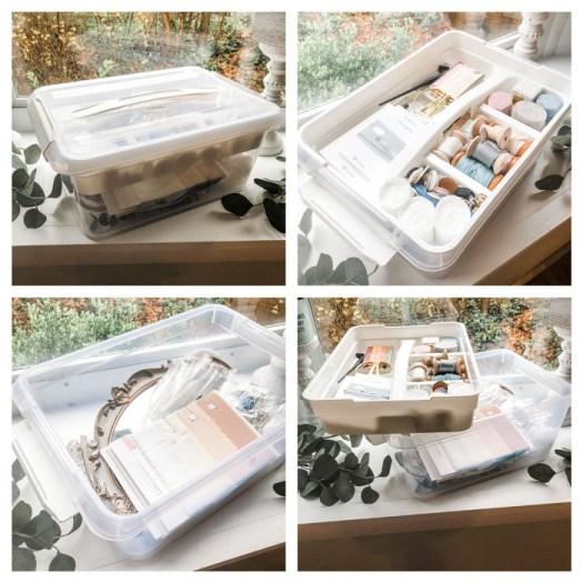 Flay Lay Styling Prop - Storage Box. Simply Rosie Designs, LLC.