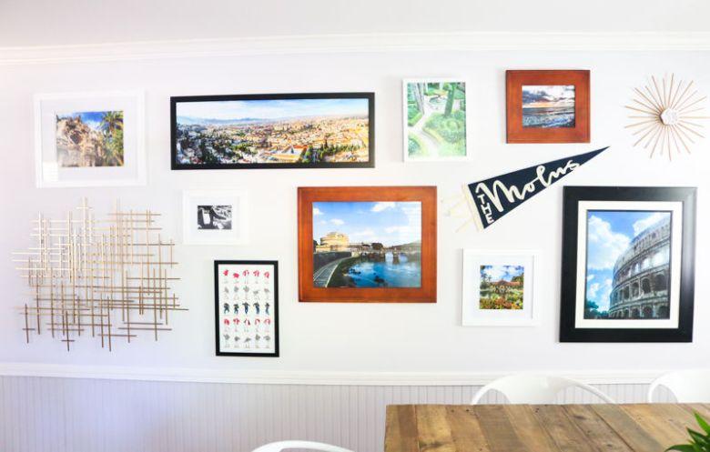 men gallery wall