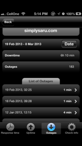 hardly any outages since jan 12th