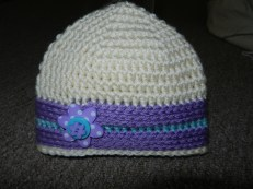 Flower Button Hat