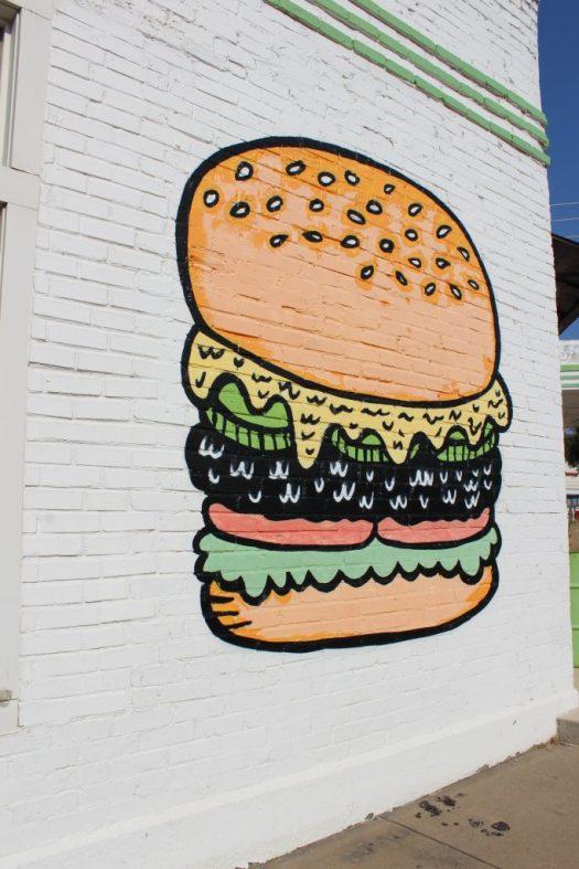 Dallas burger mural