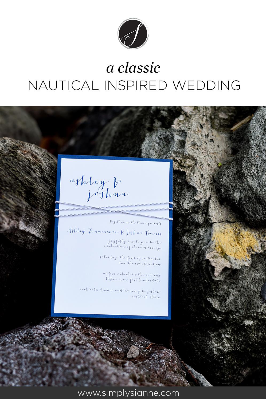 Classic Nautical Wedding Pinterest Image