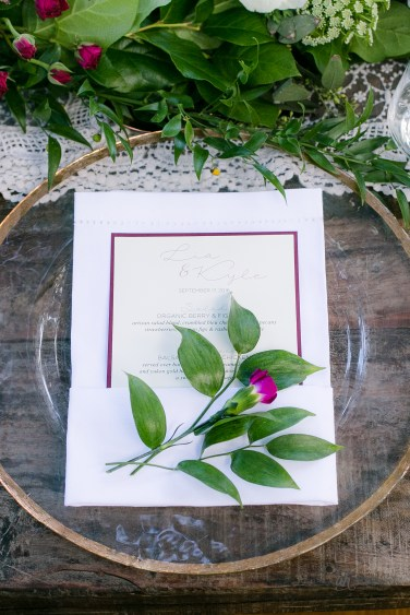 Simply Sianne Calligraphy and Design - Menu Cards - Rustic Chic Wedding