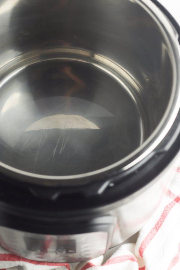 water in instnat pot